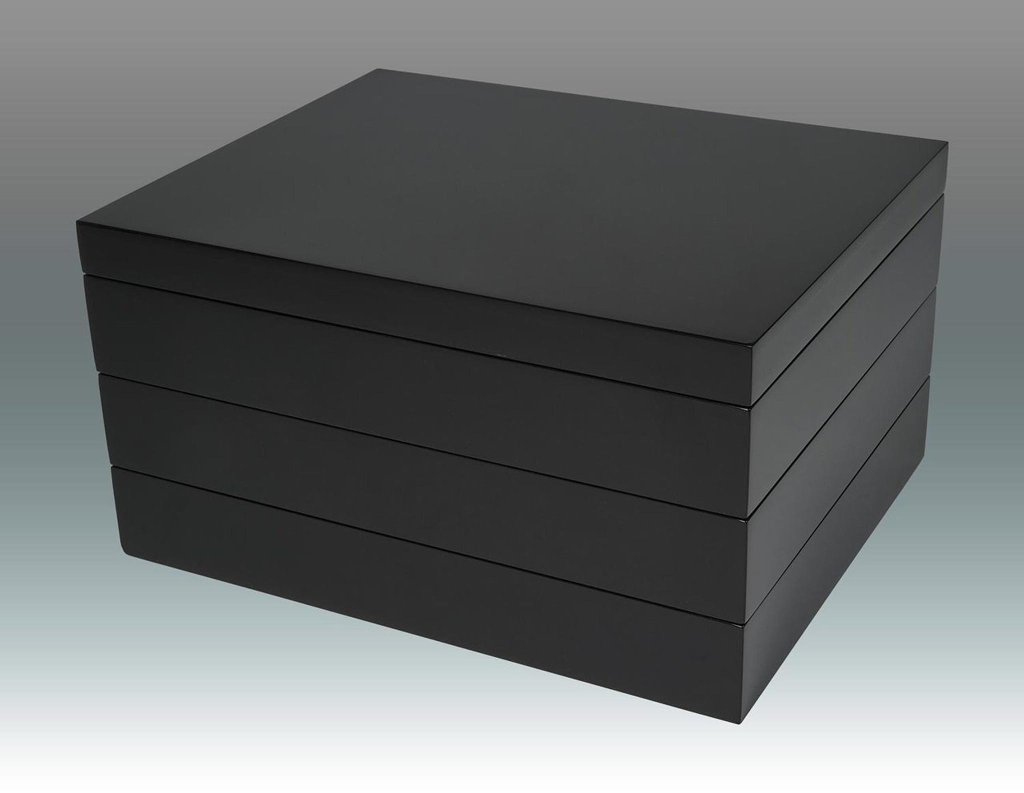 Tizo Stackable Jewelry Box Black HomeBello