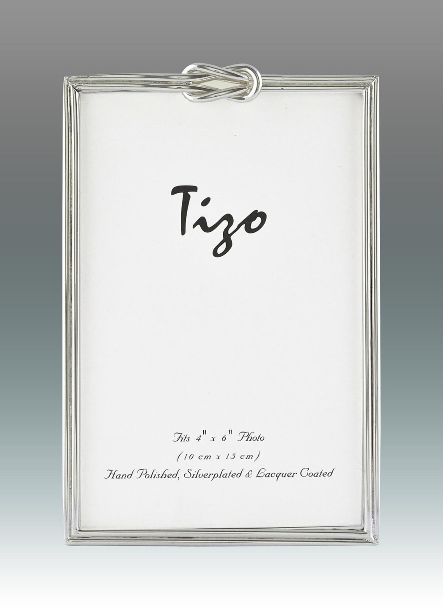 Tizo Love Knots Silver-plated Picture Frame 4 x 6 Inch Engravable ...