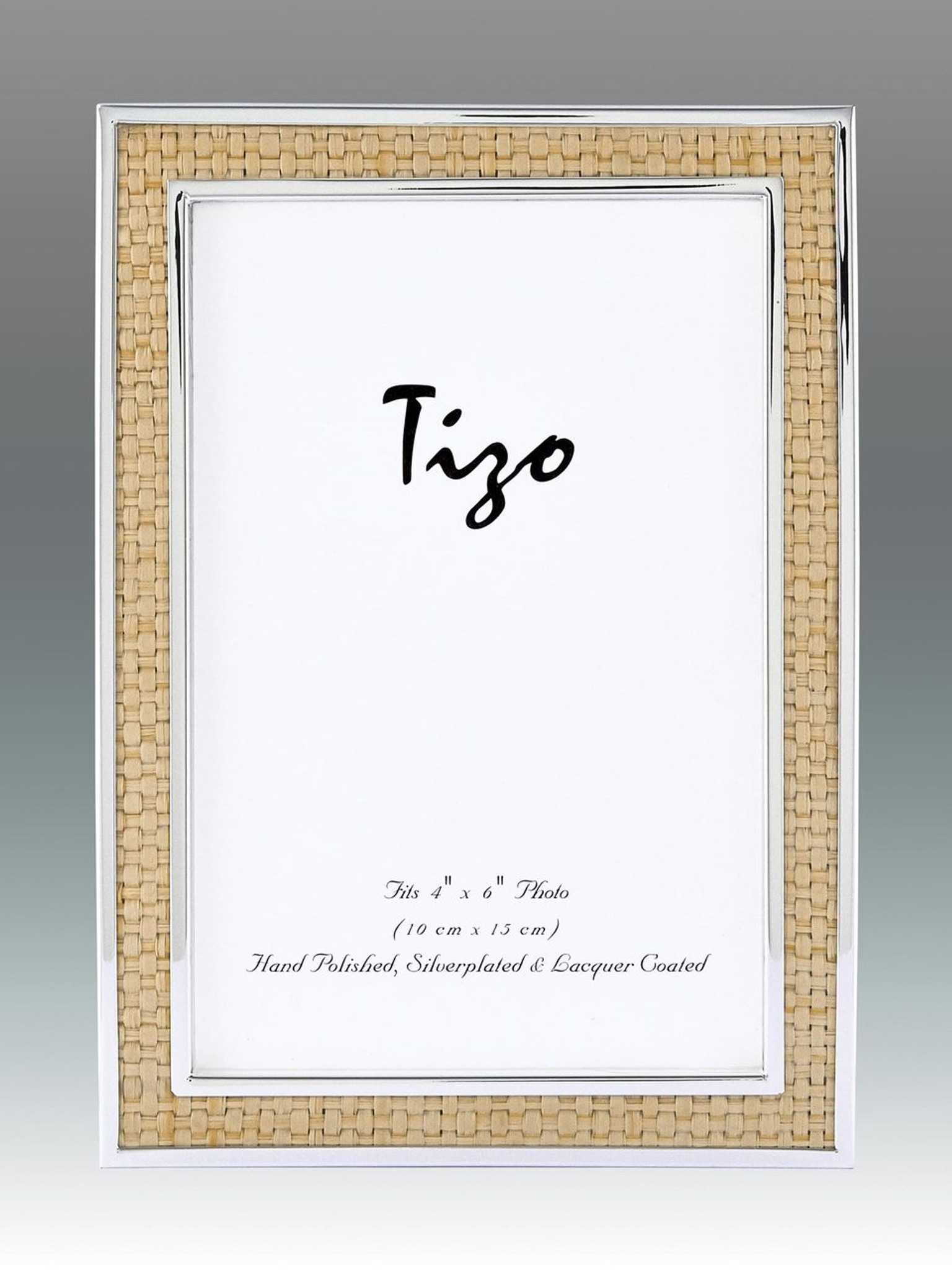 Tizo Shagreen Beige & Silver-plated Picture Frame 5 x 7 Inch ...