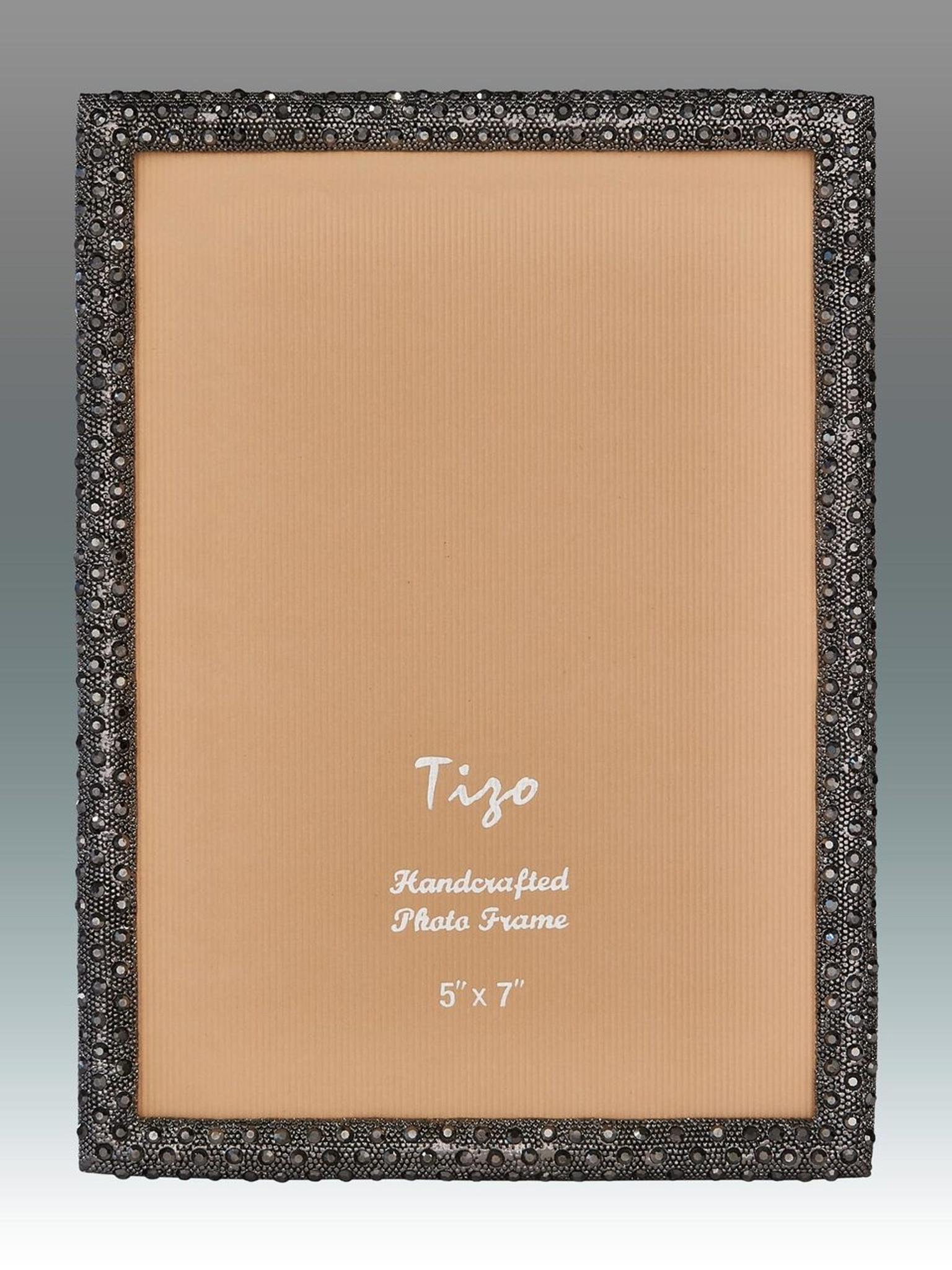 Tizo Shamoo Jeweled Black Picture Frame 4 x 6 Inch - HomeBello