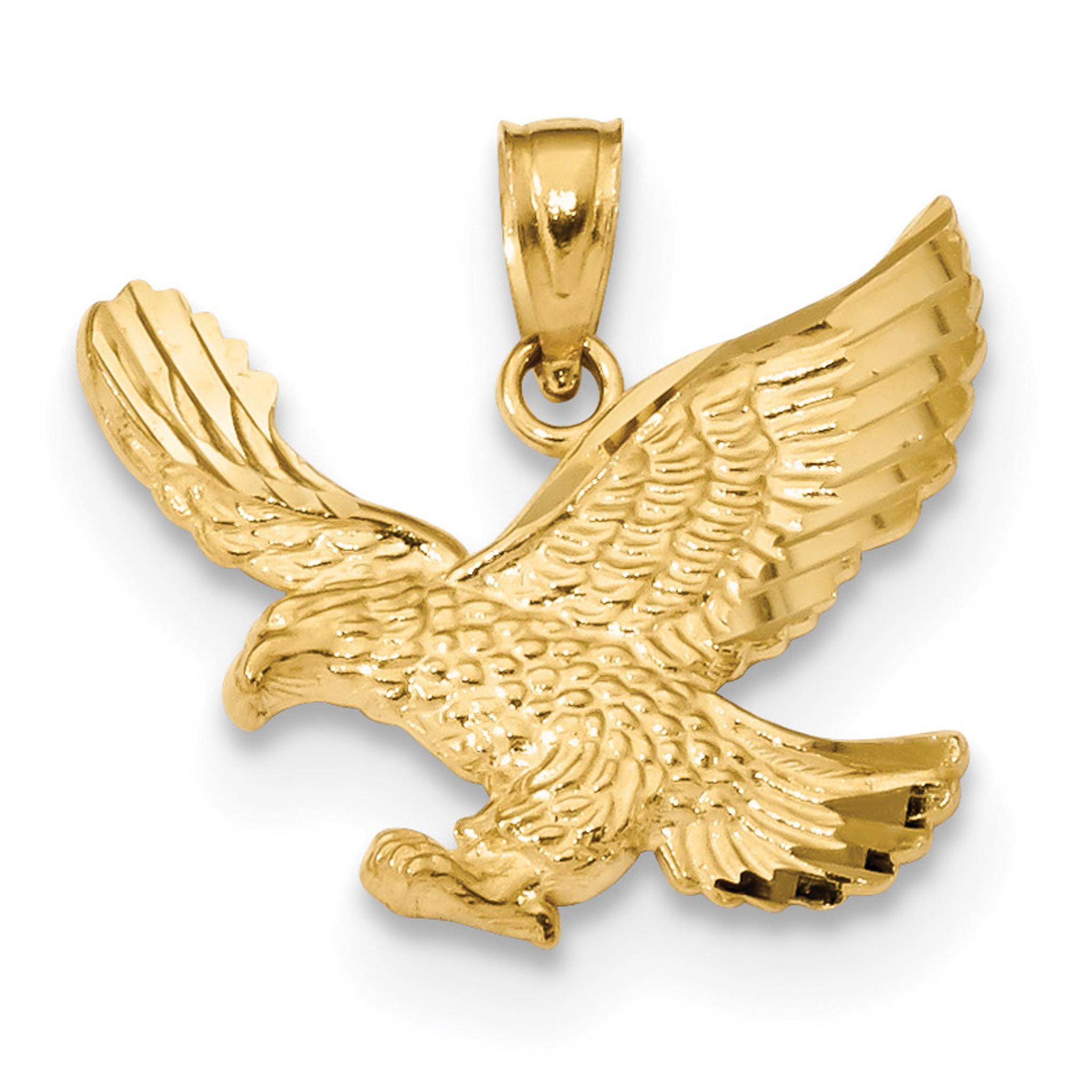 Eagle pendant 14k gold diamond cut k6000 homebello eagle pendant 14k gold diamond cut mpn k6000 aloadofball Gallery