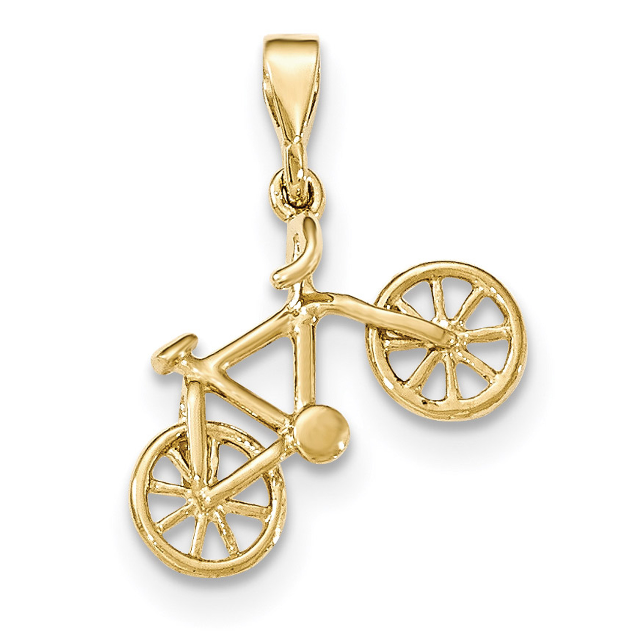 14kt yellow gold polished bicycle pendant 14k gold yc1255 homebello 14kt yellow gold polished bicycle pendant 14k gold mpn yc1255 upc 191101455483 aloadofball Image collections