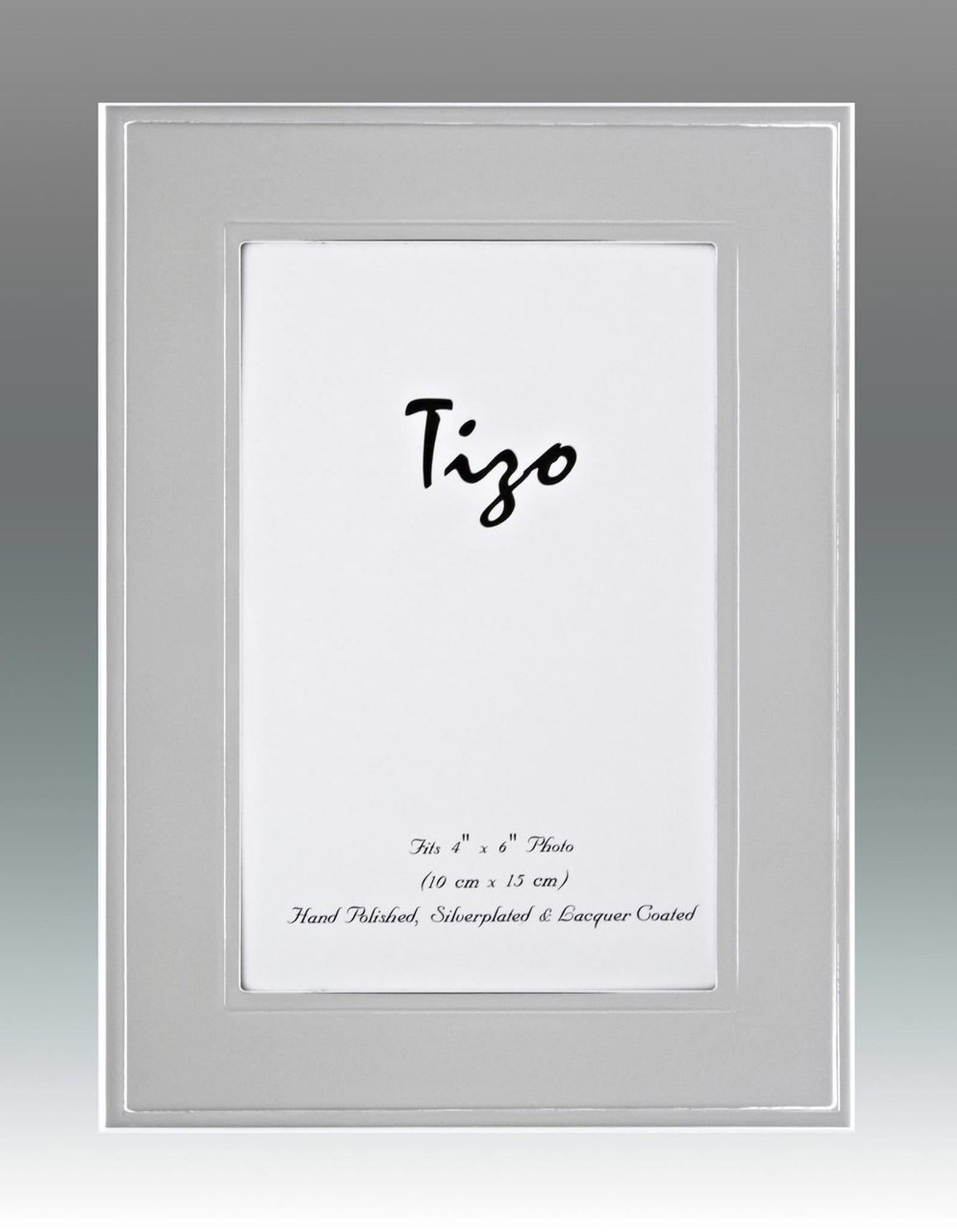 Tizo 8 x 10 Inch Tabloid Silver-plated Picture Frame - HomeBello