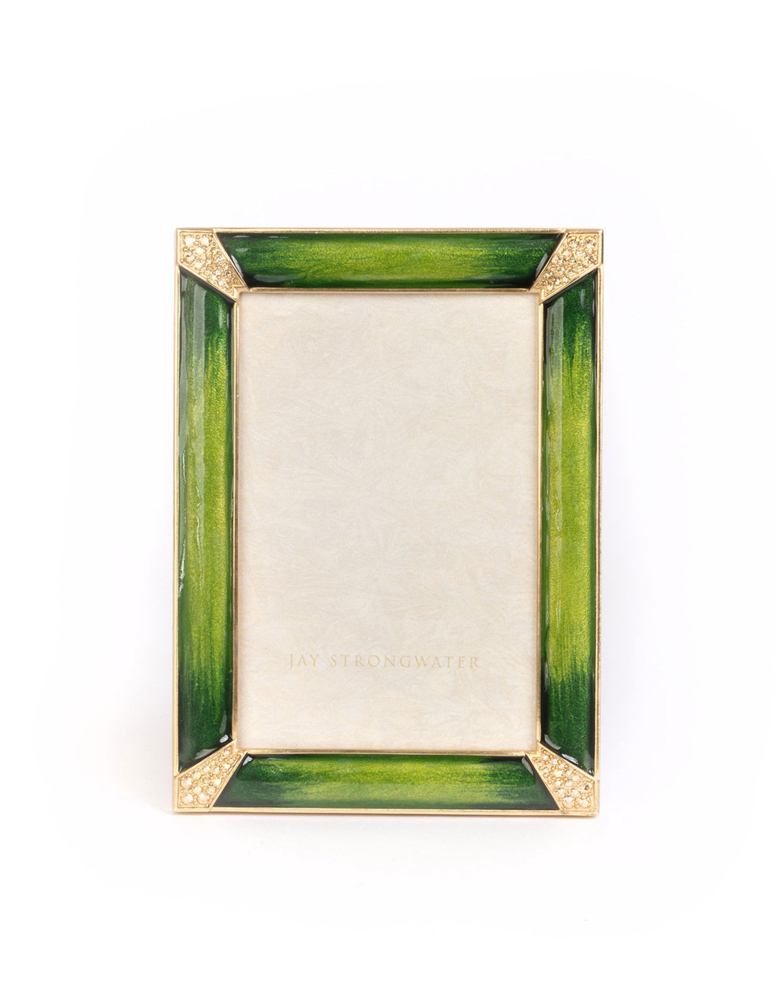 Jay Strongwater Leonard Pave Corner 4 x 6 Inch Picture Frame Emerald ...