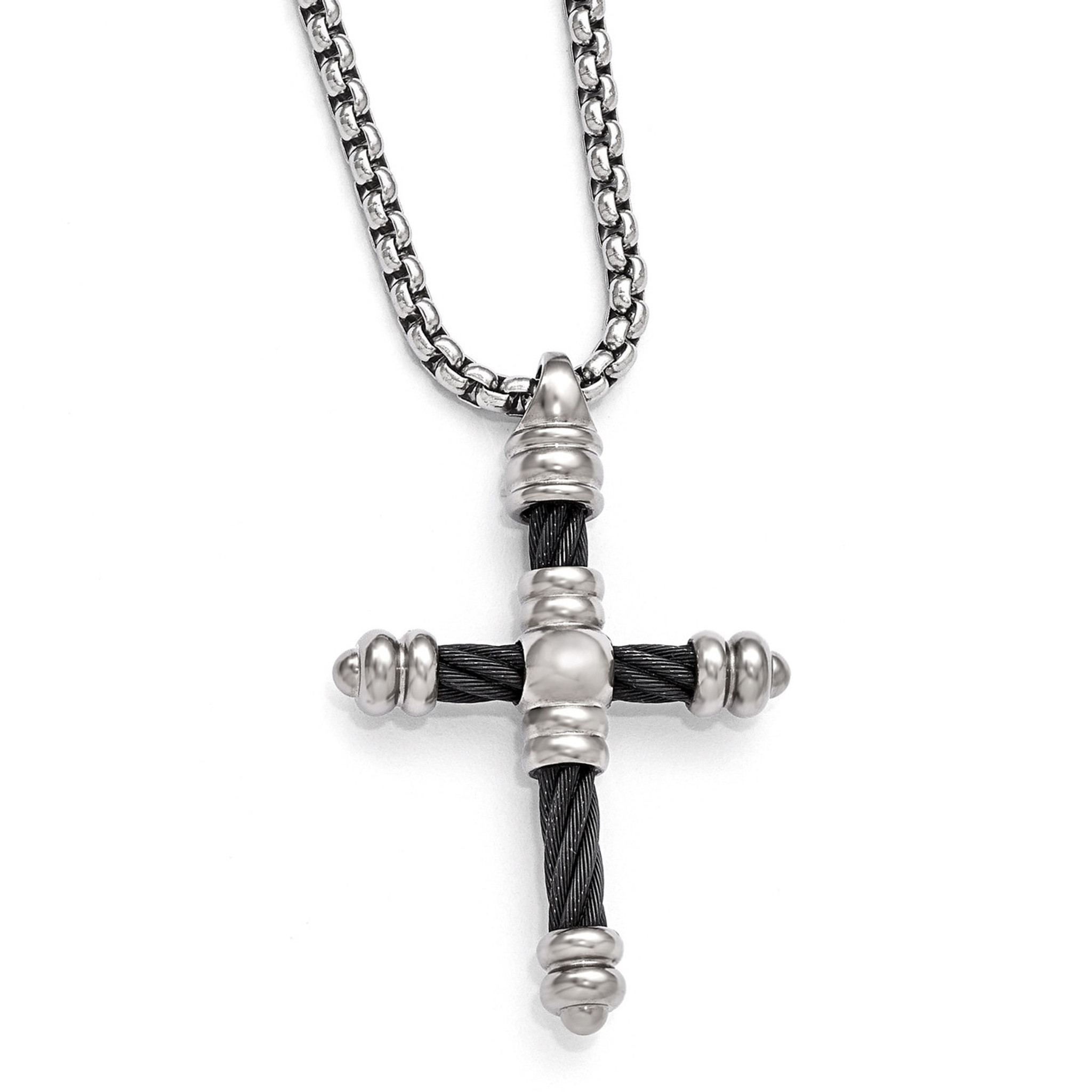 cross tag gold res curb chain necklace dog vintage titanium itm pendant rolo nec mens classic