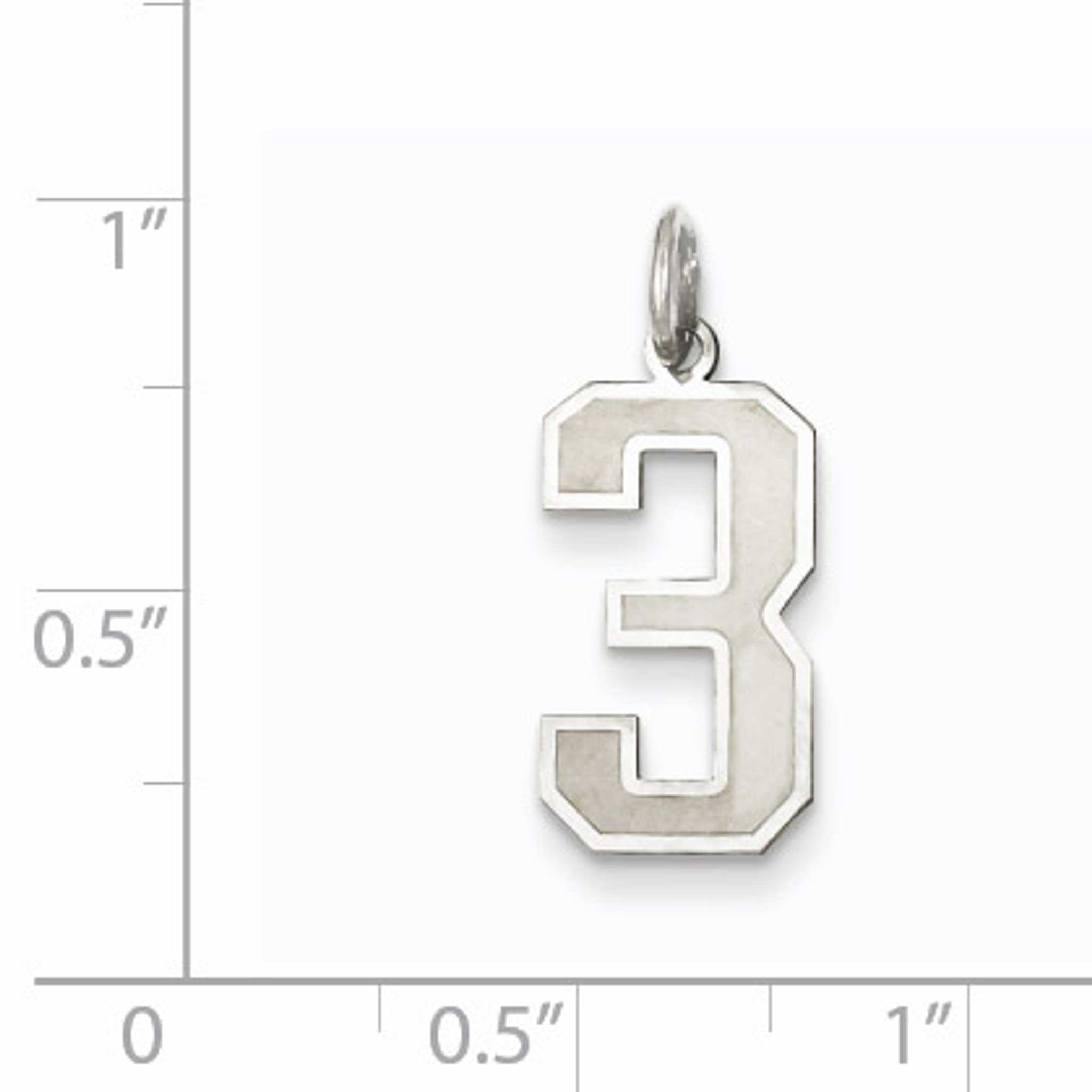 Medium satin number 3 pendant sterling silver homebello medium satin number 3 pendant sterling silver qpm03 mozeypictures Images