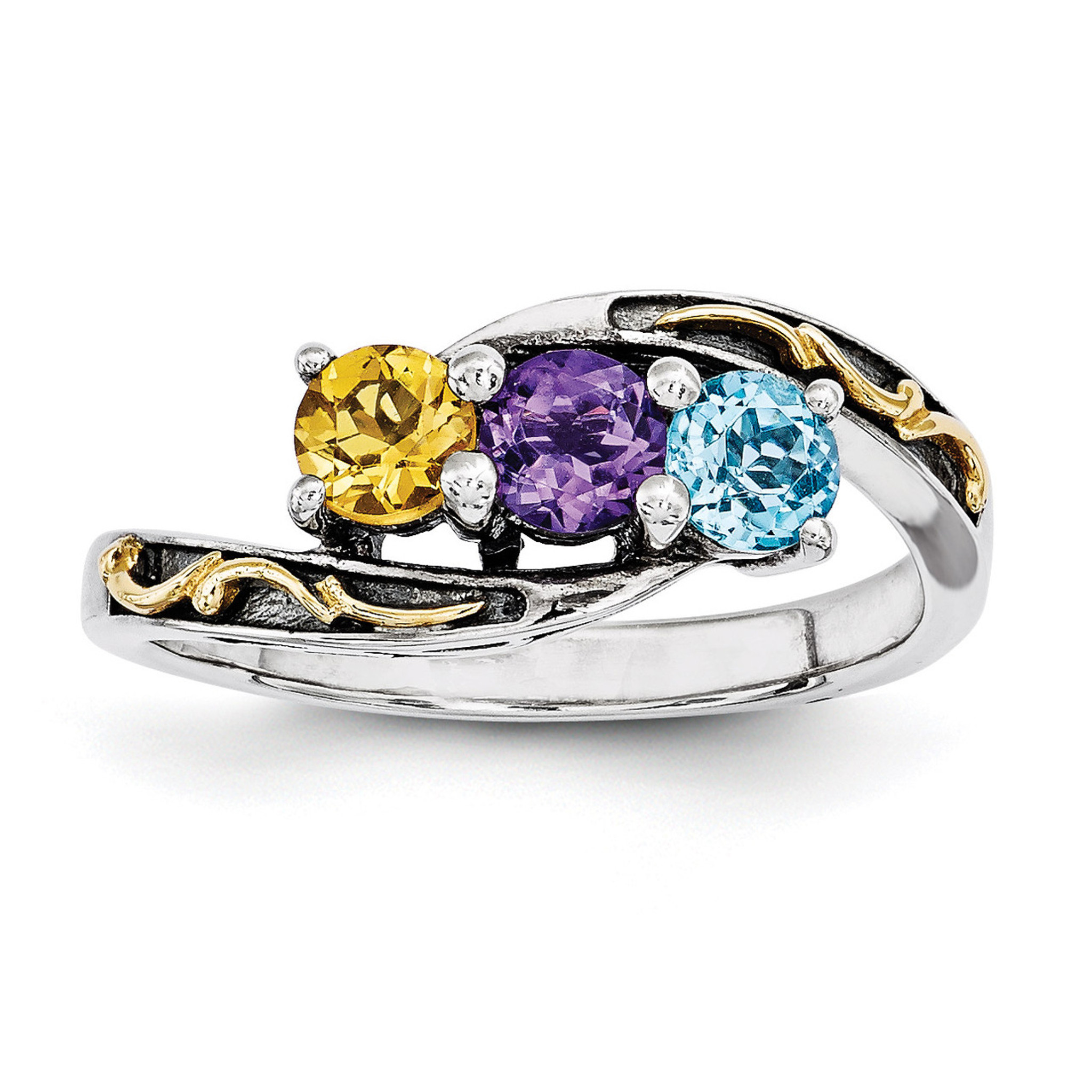 3 birthstones 14k three stone mother 39 s ring sterling. Black Bedroom Furniture Sets. Home Design Ideas