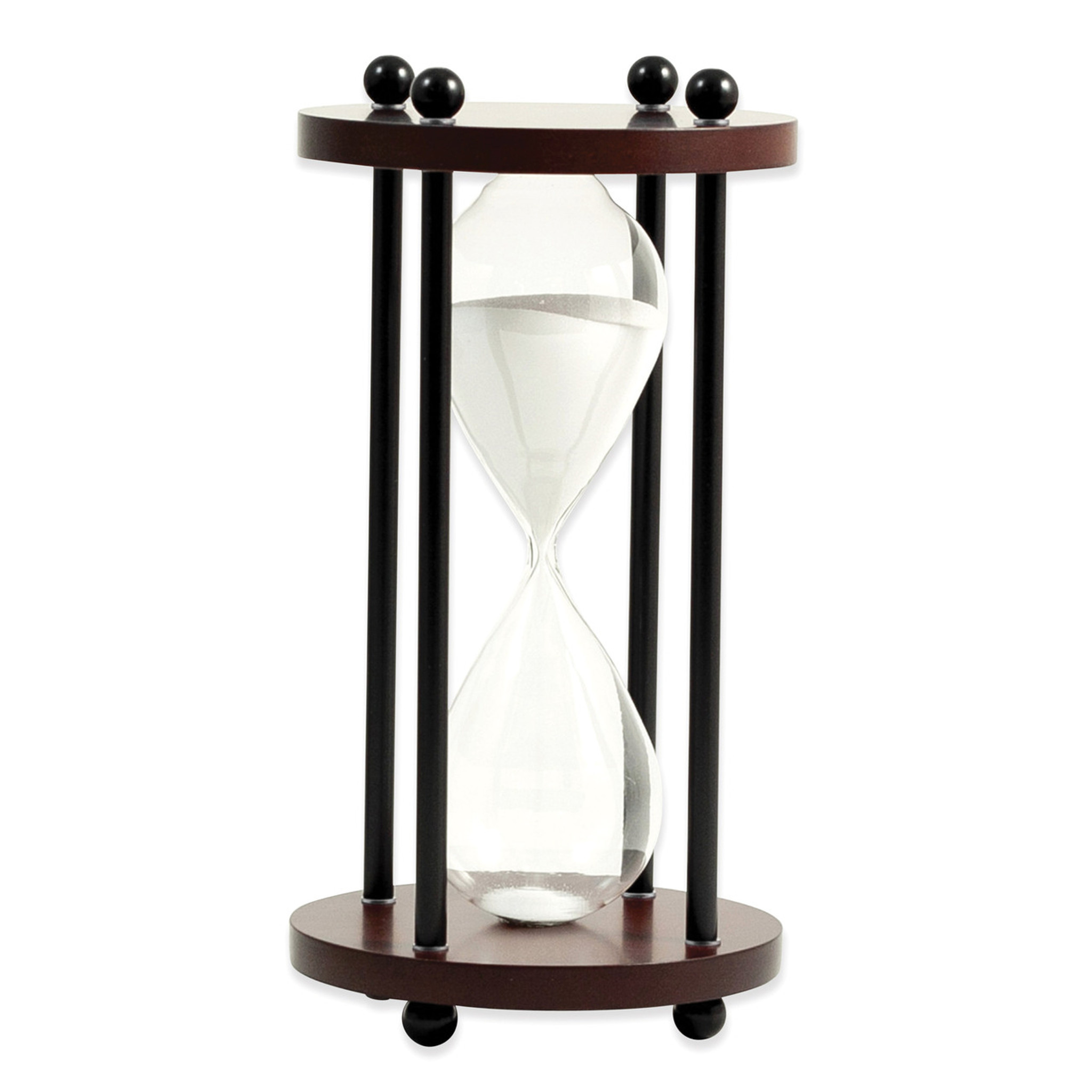 walnut wood ten minute sand timer homebello