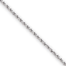 7.25 inch Rhodium-plated 2mm French Rope Bracelet MPN: KW470-7.25