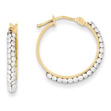 14k Gold Swarovski Elements Hoop Earrings MPN: YE1576