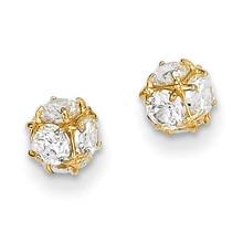 14k Gold Diamond Post Earrings MPN: YE1602