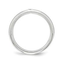 Black Diamond Ring Sterling Silver QSK1872