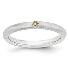 Yellow Diamond Ring Sterling Silver MPN: QSK1874 UPC: 886774377551 by Stackable Expressions