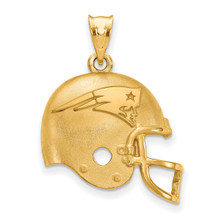 NFL New England Patriots Helmet Pendant Gold-plated on Silver, MPN: GP505PAT, UPC: 634401999689