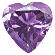 Amethyst 3mm Heart Faceted Gemstone, MPN: AM-0300-HTF-AA