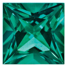 Created Emerald 3mm Princess Gemstone, MPN: CE-0300-SQP