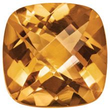 Citrine 5mm Sq Cush Gemstone, MPN: CI-0500-CUF-AA