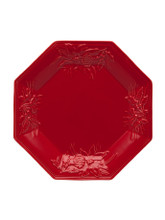 Bordallo Pinheiro Winter Red Octogonal Plate MPN: 65017244 EAN: 5600876072832