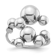 Leslie's Beaded Adjustable Ring Sterling Silver Polished MPN: QLR113