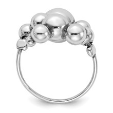 Beaded Adjustable Ring Sterling Silver Polished QLR113