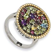 1.88Tw Multi Gemstone Ring Sterling Silver & 14k Gold, MPN: QTC331, UPC: 883957503004