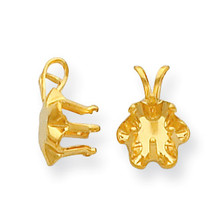 Round 6-Prong Buttercup Snap-In 2.0mm Pendant Setting 14k Gold MPN: YG963-1 UPC: