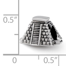 Chichen Itza Bead - Sterling Silver QRS2352