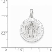 Miraculous Medal 14k White Gold XR520
