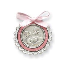 Pink Crib Medal Sterling Silver MPN: GP5485