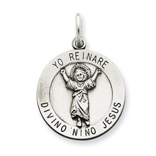 Divino Nino Medal (Divine Infant Jesus) Sterling Silver MPN: QC5486