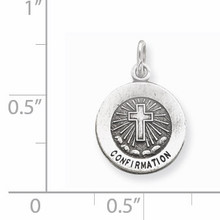 Confirmation Medal Antiqued Sterling Silver QC5902