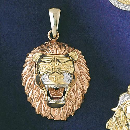 Leo Lion Zodiac Pendant Necklace Charm Bracelet in Gold or Silver 9241