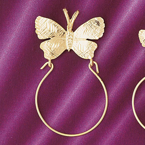 Butterfly Holder Pendant Necklace Charm Bracelet in Gold or Silver 4231