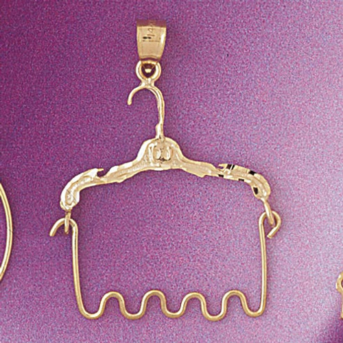 Hanger Holder Pendant Necklace Charm Bracelet in Gold or Silver 4270