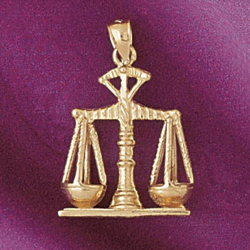 Justice Scale Pendant Necklace Charm Bracelet in Gold or Silver 4678