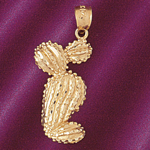 Cactus Pendant Necklace Charm Bracelet in Gold or Silver 5226