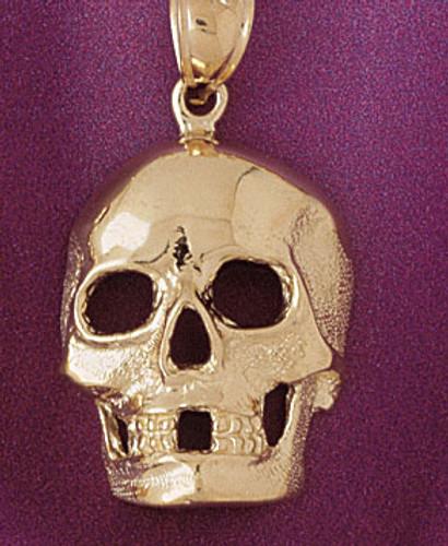 Skull Pendant Necklace Charm Bracelet in Gold or Silver 5592