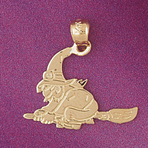 Wicked Witch Pendant Necklace Charm Bracelet in Gold or Silver 5601
