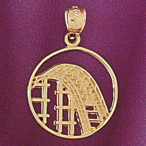 Roller Coaster Pendant Necklace Charm Bracelet in Gold or Silver 5973