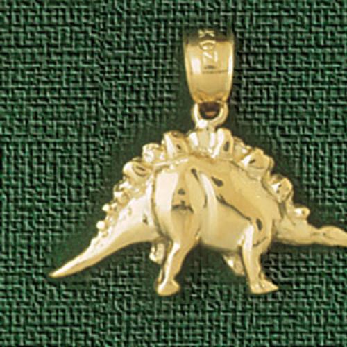 Dinosaur Pendant Necklace Charm Bracelet in Gold or Silver 2278