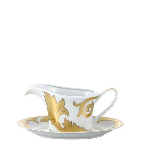 Versace Arabesque Gold Sauce Boat 18 ounce