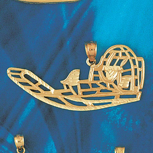 Air Boat Pendant Necklace Charm Bracelet in Gold or Silver 1352