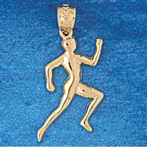 Running Figure Pendant Necklace Charm Bracelet in Gold or Silver 3594