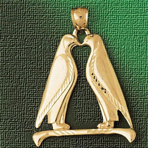 Penguin Pendant Necklace Charm Bracelet in Gold or Silver 1606