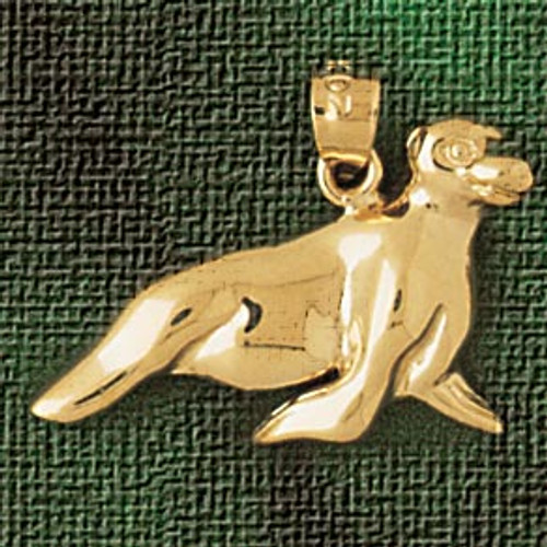 Seal Pendant Necklace Charm Bracelet in Gold or Silver 1621