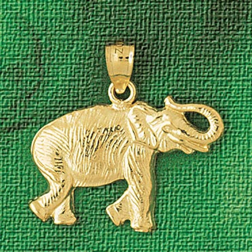 Elephant Pendant Necklace Charm Bracelet in Gold or Silver 2326