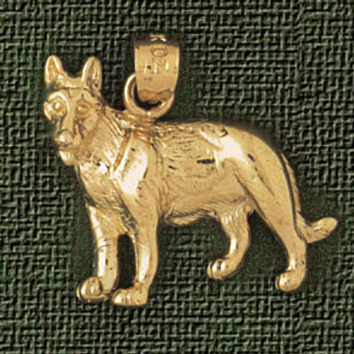 Shepard Dog Pendant Necklace Charm Bracelet in Gold or Silver 2133