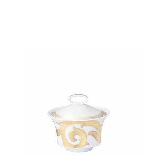 Versace Arabesque Gold Sugar Bowl Covered 7 ounce
