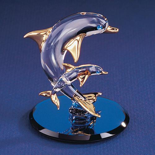 Dolphin & Baby Glass Figurine GL3726