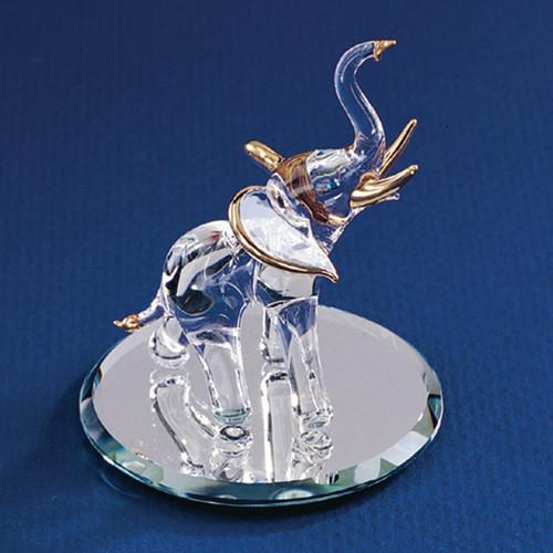 Elephant Glass Figurine GL3727
